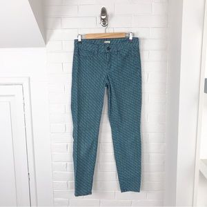 {J.Crew Factory} Patterned Toothpick Corduroy Pant